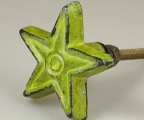 Antique Iron deco Star GREEN US$6.25