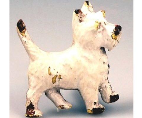 Antique Iron dog Star whitewashed US$8.95