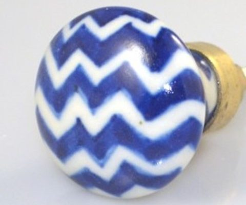 Cottage Chic Ceramic Knob blue&white stripes US$8.95