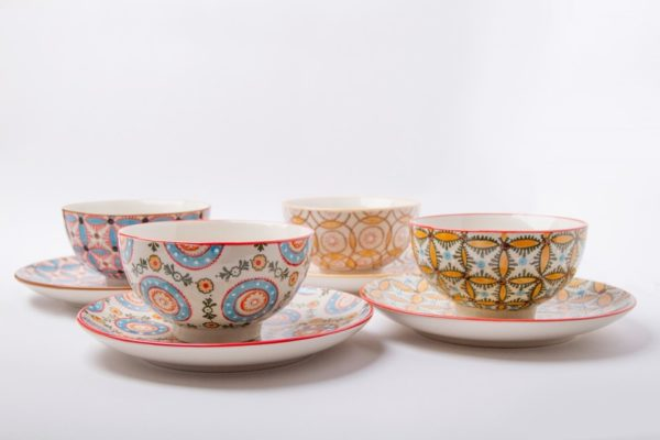 Boho Bowls (Set of 4) US$86.97    Boho Plates (Set of 4) US$95.64